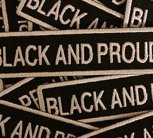 black and proud accent patch